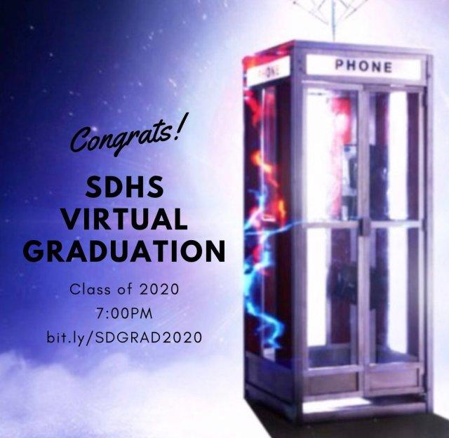 Una graduación virtual se celebró en la San Dimas High School. Imagen: San Dimas High Twitter (@SanDimasHS).