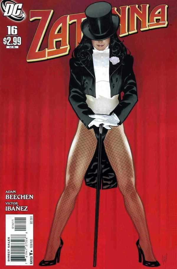 Portada de Zatanna #16 (octubre de 2011). Arte por Adam Hughes. Imagen: Comic Vine