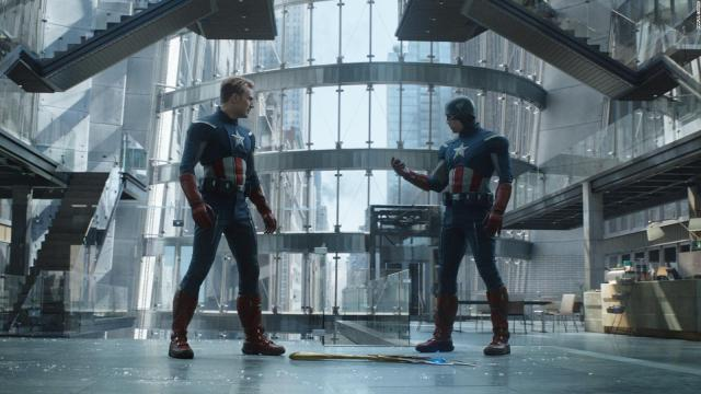 Captain America (Chris Evans) vs. Captain America (Chris Evans) en Avengers: Endgame (2019). Imagen: Marvel Studios