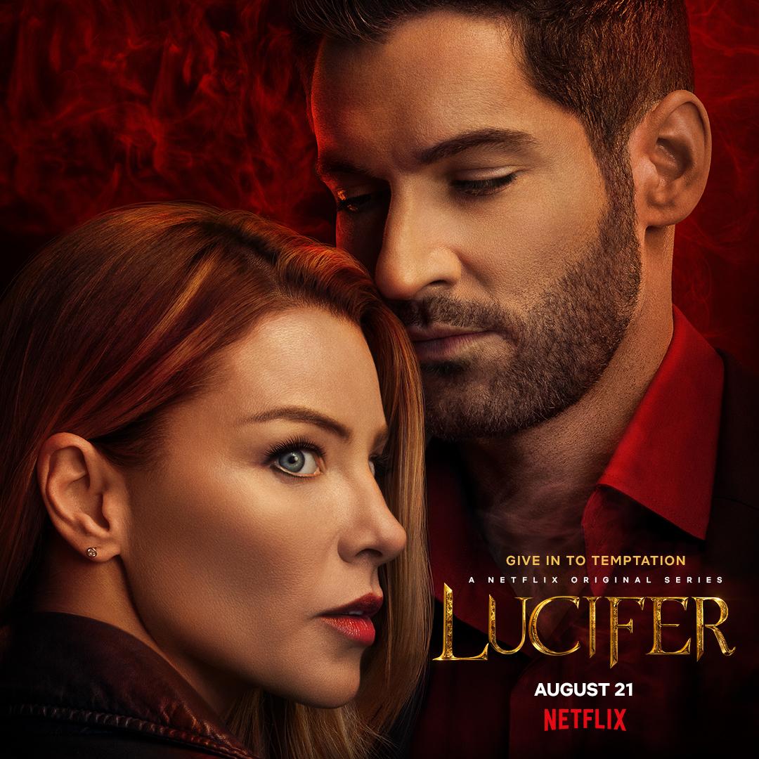Póster de la temporada 5 de Lucifer. Imagen: NX Twitter (@NXOnNetflix).