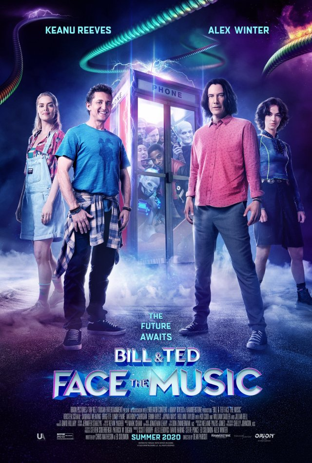 Póster de Bill & Ted Face the Music (2020). Imagen: Bill & Ted 3 Twitter (@BillandTed3).