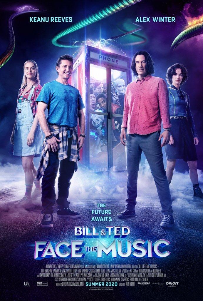 Póster de Bill & Ted Face the Music (2020). Imagen: Bill & Ted 3 Twitter (@BillandTed3).