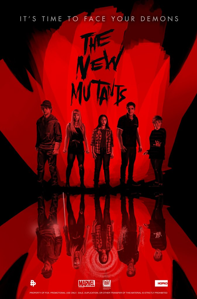 Póster de The New Mutants (2020). Imagen: New Mutants Twitter (@NewMutantsFilm).