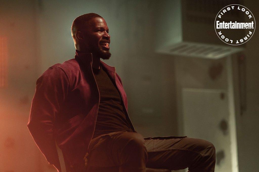 Jamie Foxx como Art en Project Power (2020). Imagen: Skip Bolen/Netflix/Entertainment Weekly