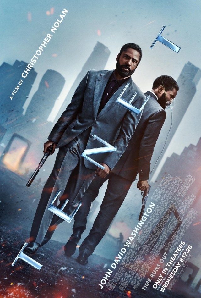 Póster de Tenet (2020), cambiada para estrenarse el 31 de julio de 2020 y posteriormente al 12 de agosto de 2020 (Estados Unidos). Imagen: impawards.com