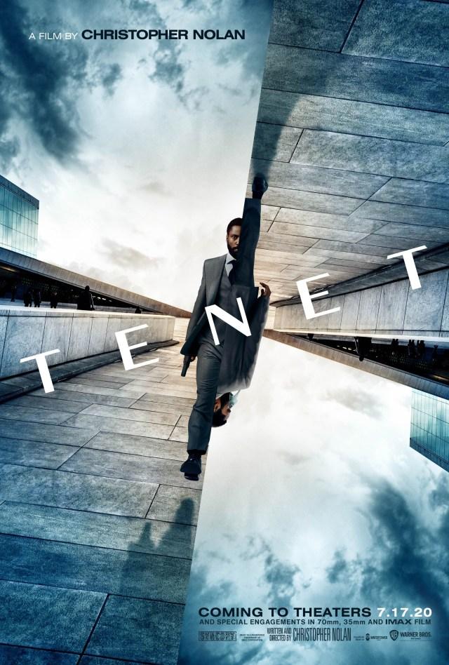 Póster de Tenet (2020), que originalmente se estrenaría el 17 de julio de 2020 (Estados Unidos). Imagen: impawards.com