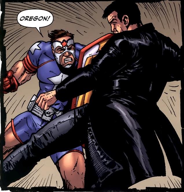 Soldier Boy vs. Billy Butcher en The Boys #32 (julio de 2009). Imagen: Comic Vine