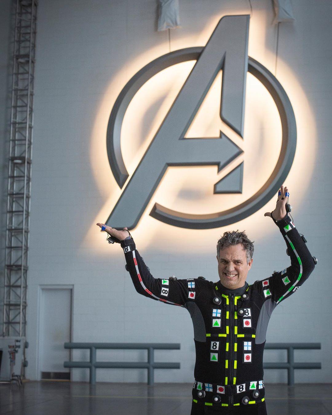Mark Ruffalo como el Dr. Bruce Banner/Hulk en el set de Avengers: Endgame (2019). Imagen: Disney+ Instagram (@disneyplus).