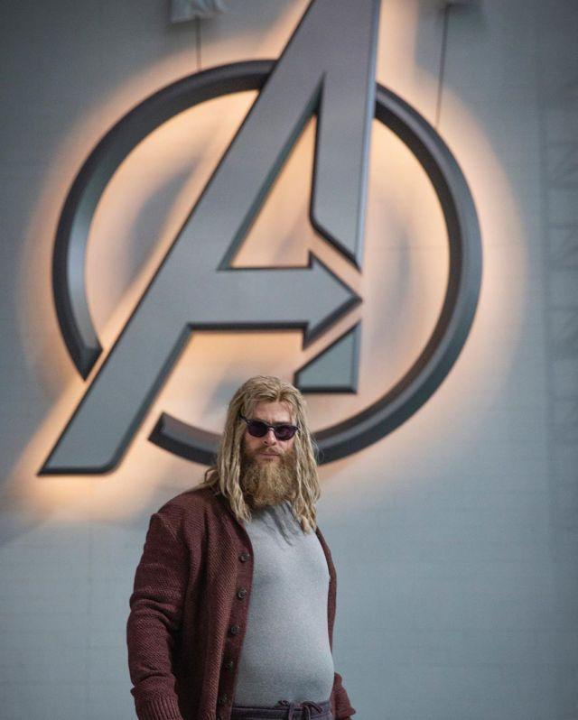 Chris Hemsworth como Thor en el set de Avengers: Endgame (2019). Imagen: Disney+ Instagram (@disneyplus).