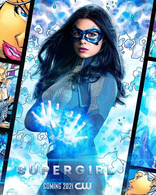 Dreamer (Nicole Maines) en un póster de Supergirl. Imagen: Supergirl Twitter (@TheCWSupergirl).