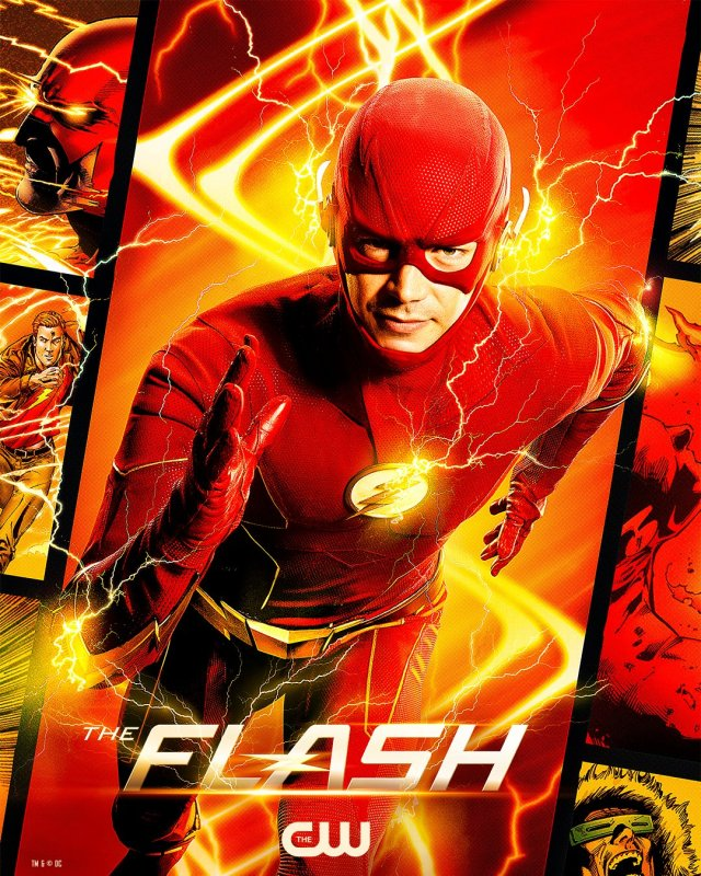 Flash (Grant Gustin) en un póster de The Flash. Imagen: The Flash Twitter (@CW_TheFlash).