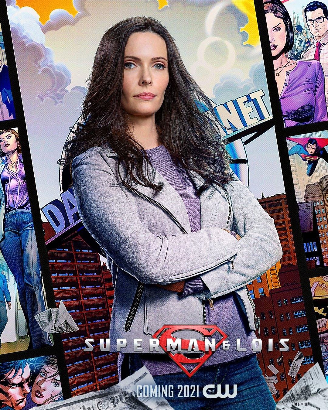 Lois Lane (Elizabeth Tulloch) en un póster de Superman & Lois. Imagen: Superman and Lois Twitter (@cwsupermanlois).
