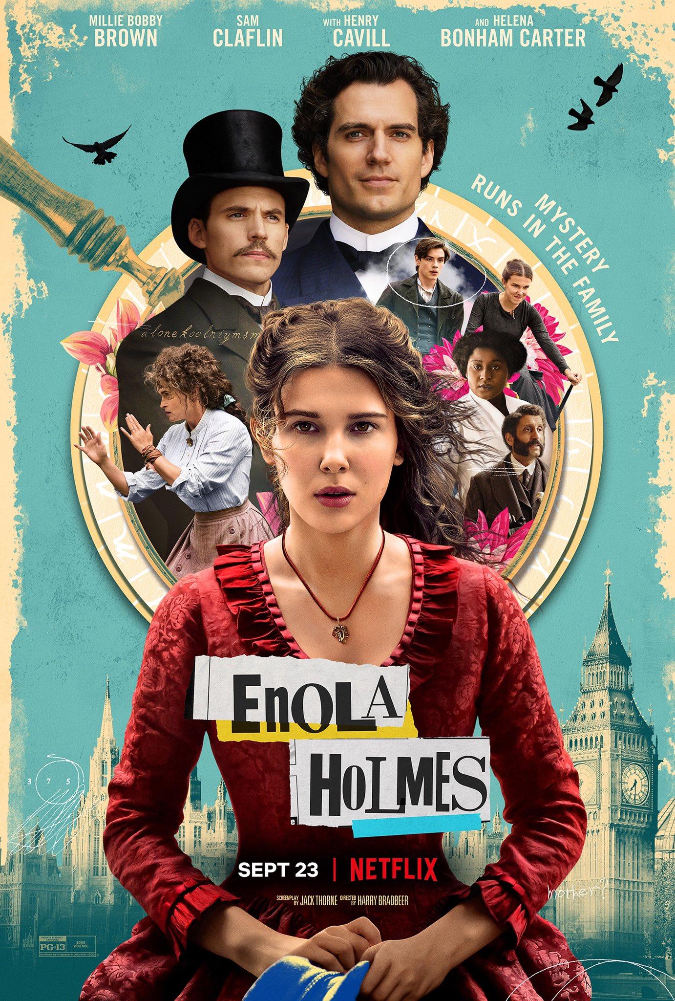 plex | El Póster de Enola Holmes, una Película de Netflix Sobre la Hermana  de Sherlock Holmes