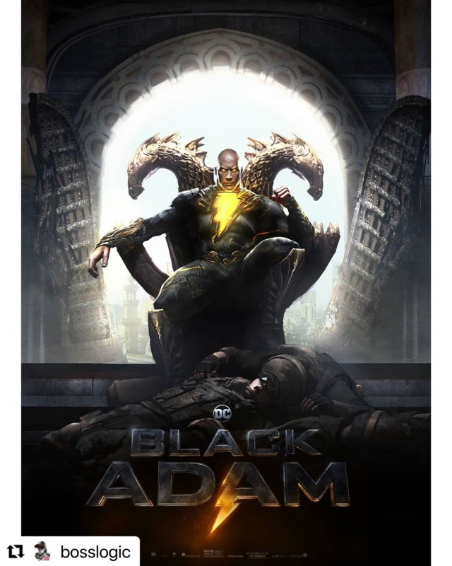 Black Adam (Dwayne Johnson) en arte conceptual de Black Adam (2021). Imagen: Jim Lee (@JimLee).