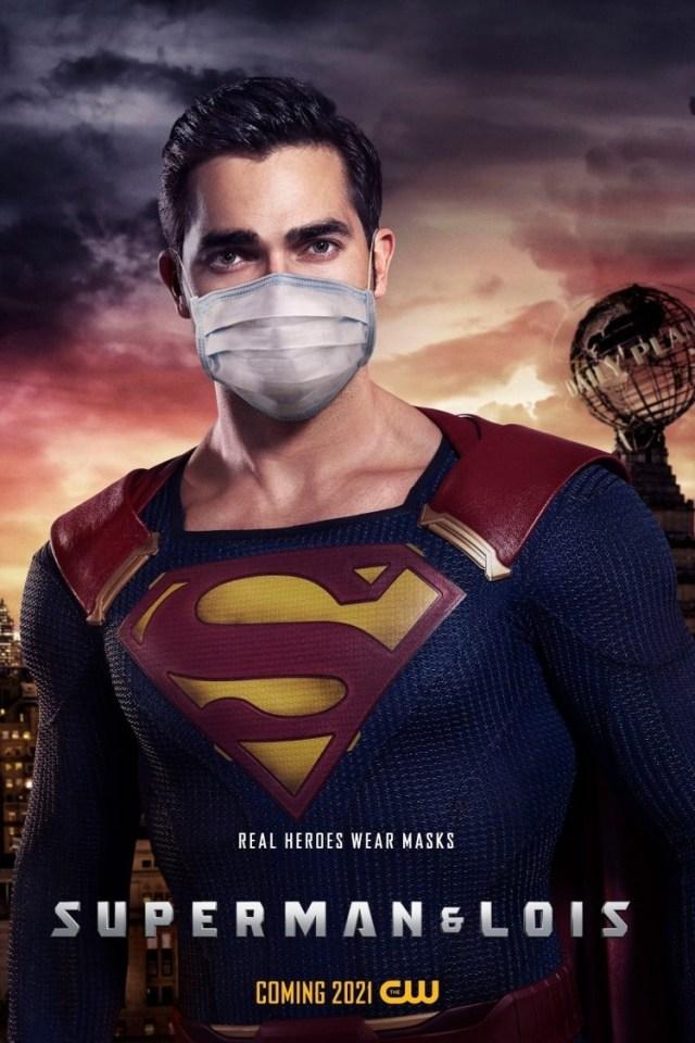 Superman (Tyler Hoechlin) en un póster de Superman & Lois. Imagen: impawards.com