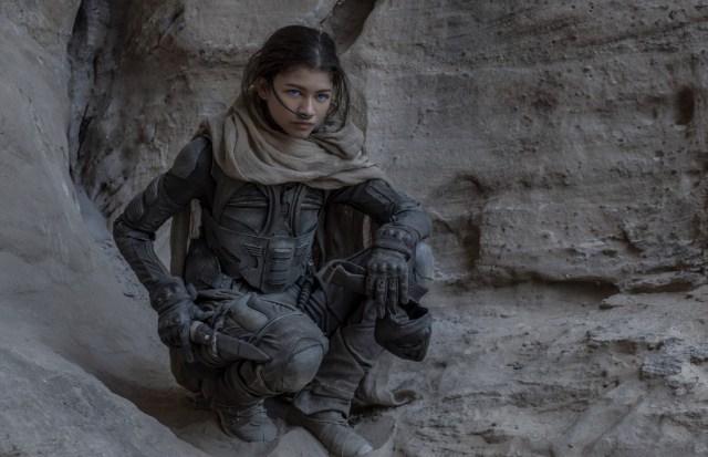 Zendaya como Chani en Dune (2020). Imagen: Vanity Fair