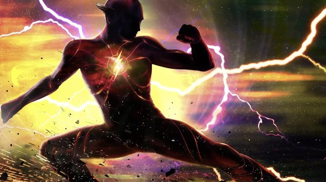 Flash/Barry Allen (Ezra Miller) en arte conceptual de The Flash (2022). Imagen: Warner Bros. Pictures