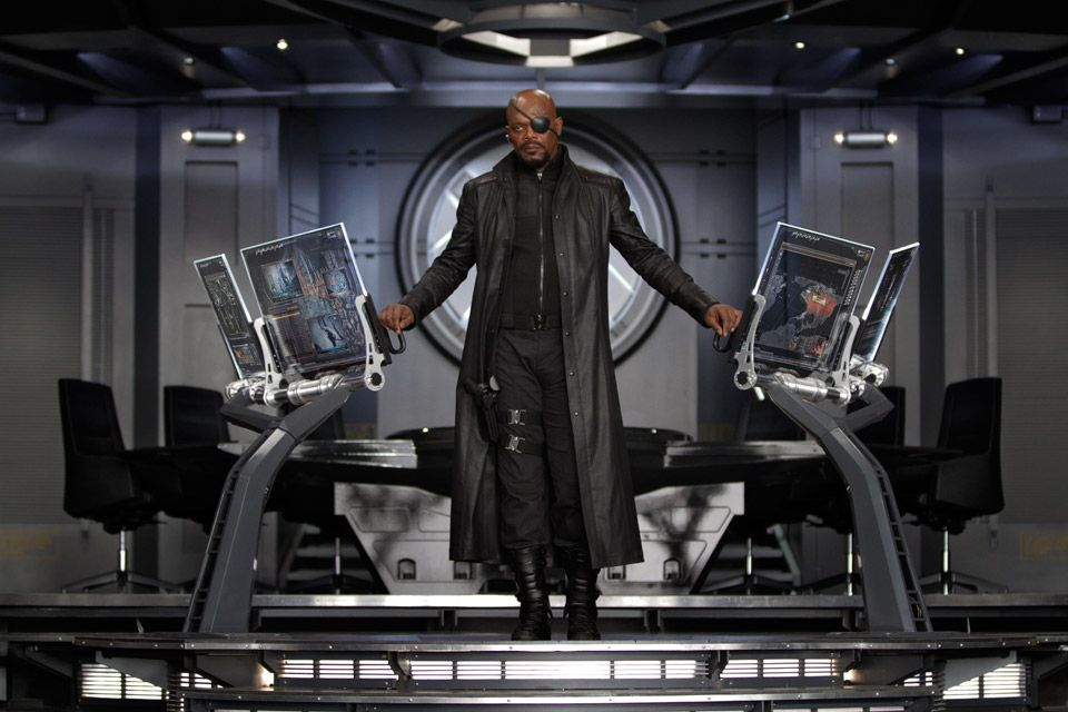 Nick Fury (Samuel L. Jackson) en The Avengers (2012). Imagen: pinterest.com