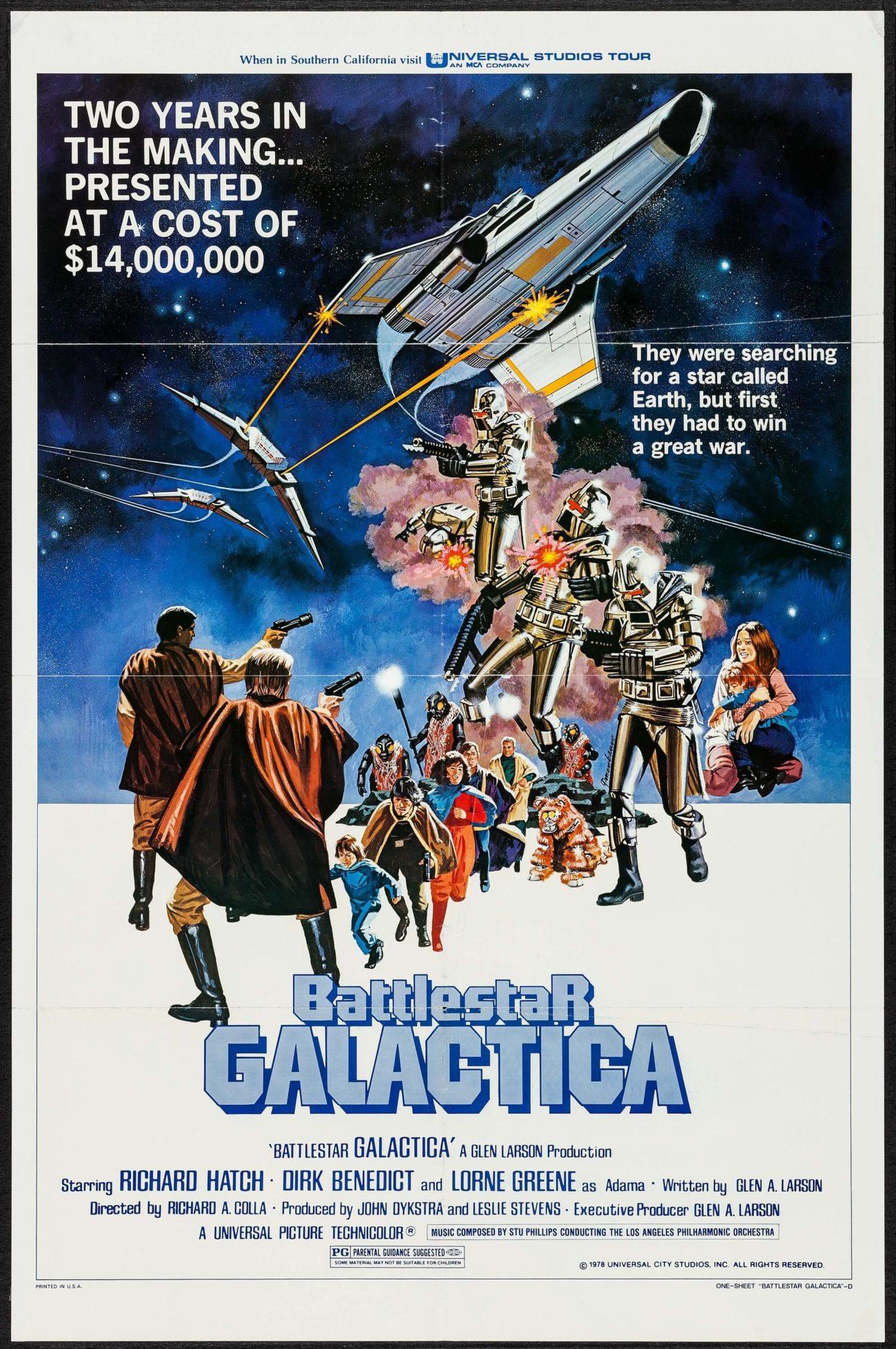 Póster de Battlestar Galactica (1978). Imagen: Dangerous Universe