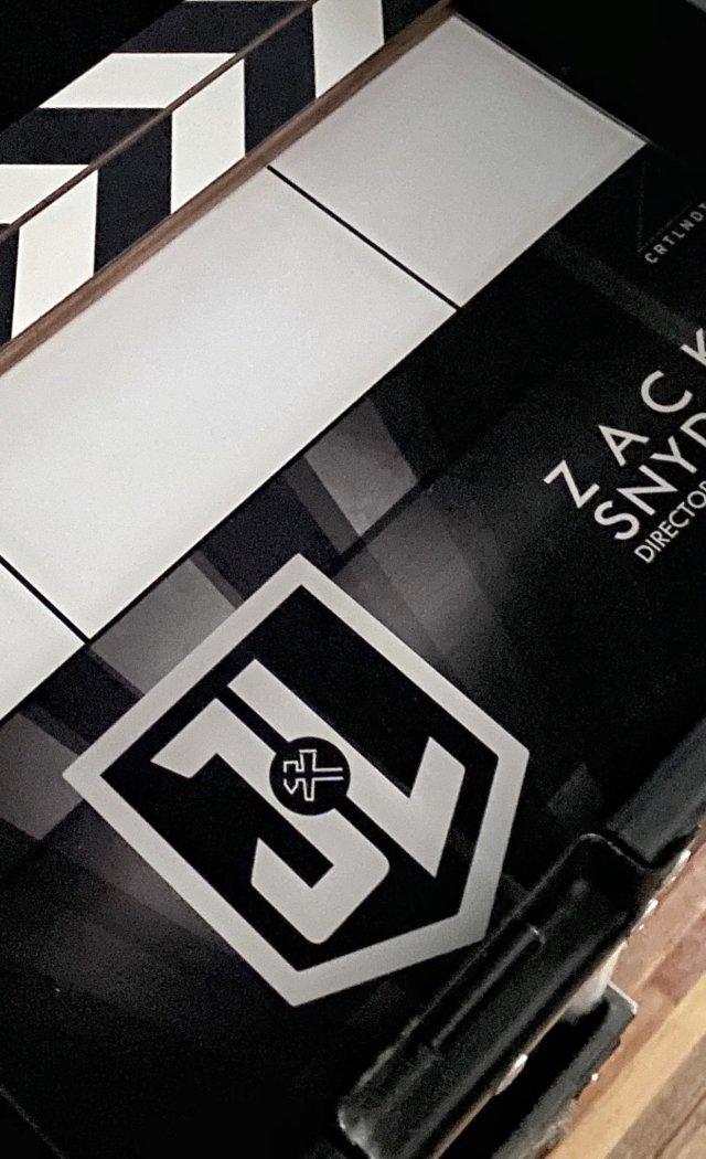 La claqueta de Zack Snyder's Justice League (2021). Imagen: Zack Snyder Twitter (@ZackSnyder).
