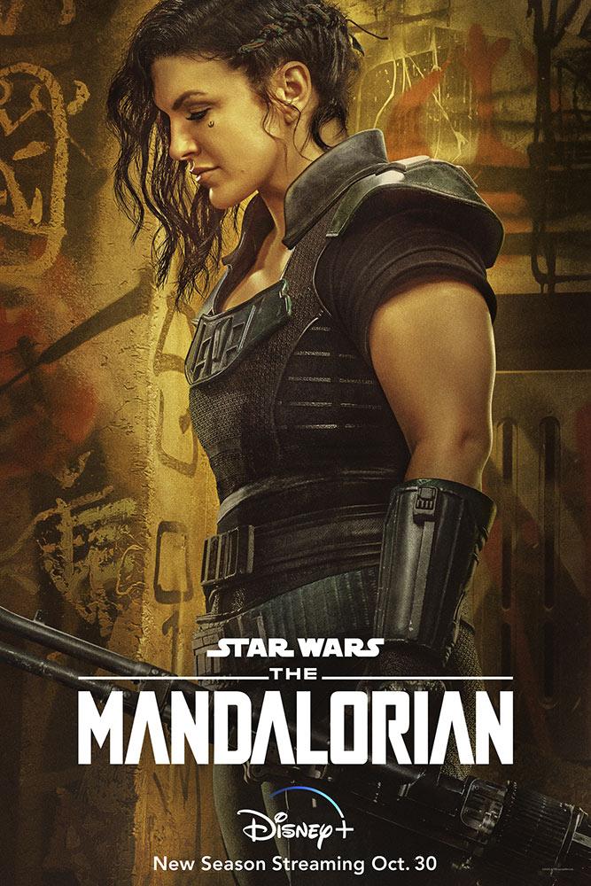Cara Dune (Gina Carano) en un póster de la temporada 2 de The Mandalorian. Imagen: StarWars.com