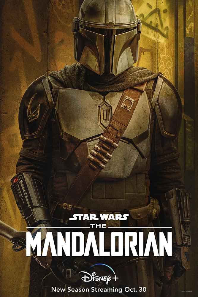Din Djarin/The Mandalorian (Pedro Pascal) en un póster de la temporada 2 de The Mandalorian. Imagen: StarWars.com
