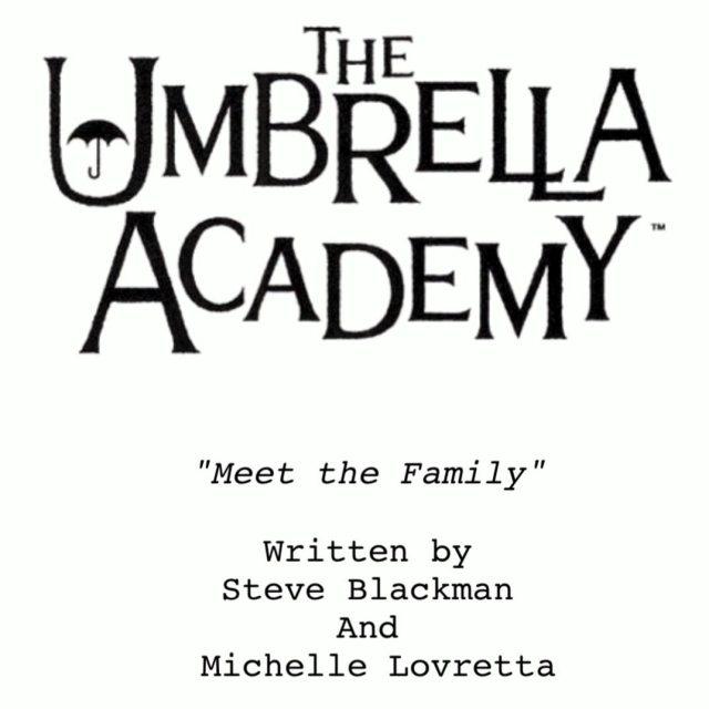 El guión del episodio 301 de The Umbrella Academy. Imagen: Steve Blackman Instagram (@steveblackmantv).