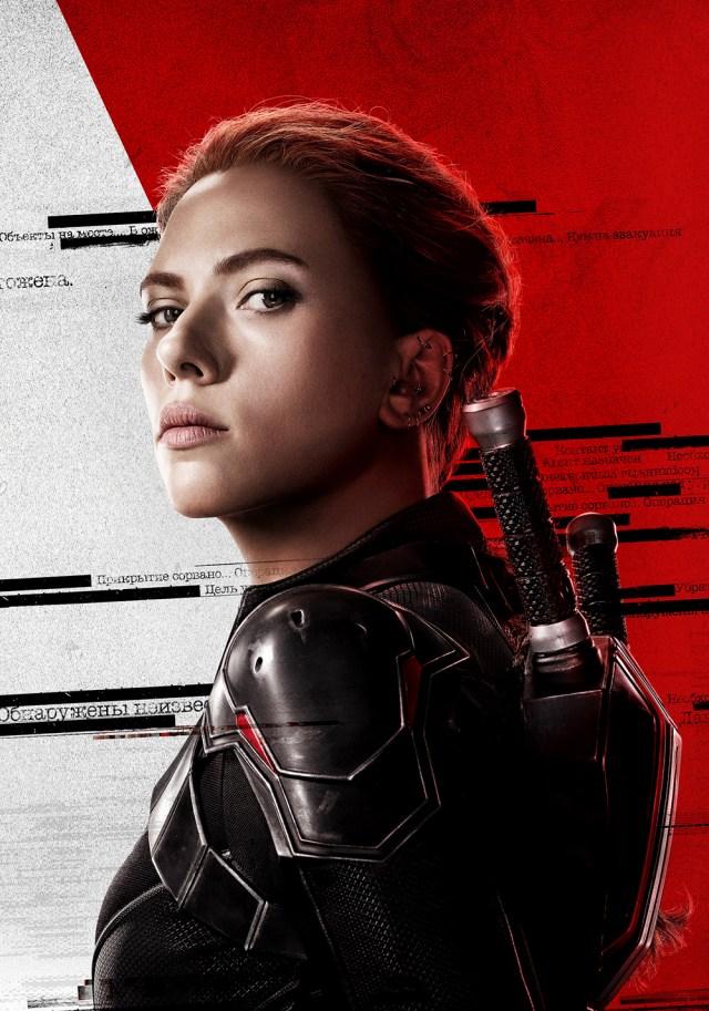 Black Widow/Natasha Romanoff (Scarlett Johanson) en arte promocional de Black Widow (2021). Imagen: fanart.tv