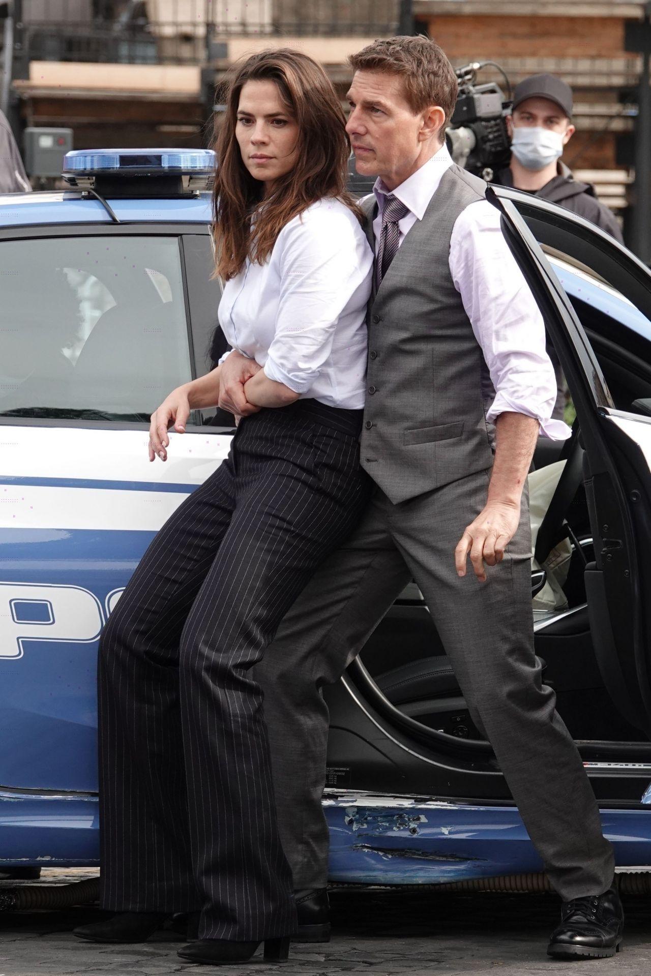 Tom Cruise y Hayley Attwell han filmado escenas de Mission: Impossible 7 (2021) en Roma, Italia. Imagen: CelebMafia