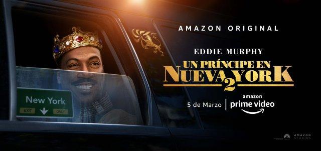 Póster en español de Coming 2 America (2021). Imagen: Amazon Prime Video Latinoamérica Twitter (@PrimeVideoLat).