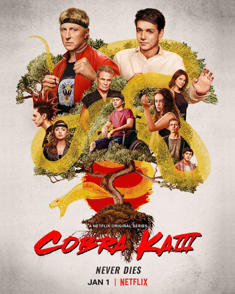 Póster de la temporada 3 de Cobra Kai en Netflix. Imagen: Cobra Kai Twitter (@CobraKaiSeries).