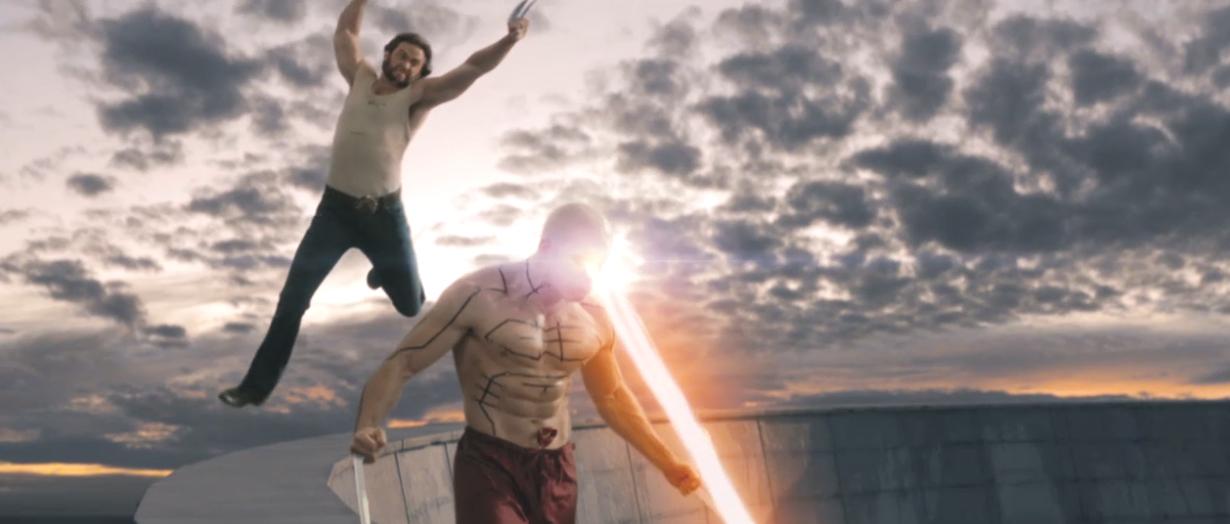 Wolverine (Hugh Jackman) vs. Weapon XI (Scott Adkins) en X-Men Origins: Wolverine (2009). Imagen: IMDb.com