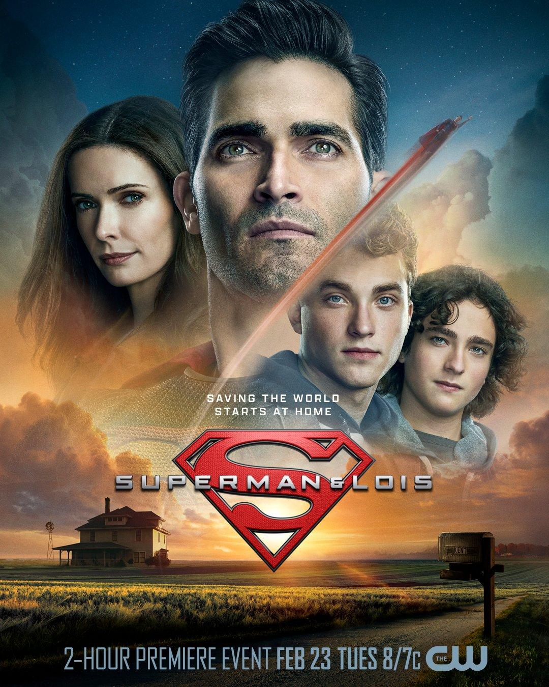 Los Kent en el póster de Superman & Lois. Imagen: Superman and Lois Twitter (@cwsupermanandlois).