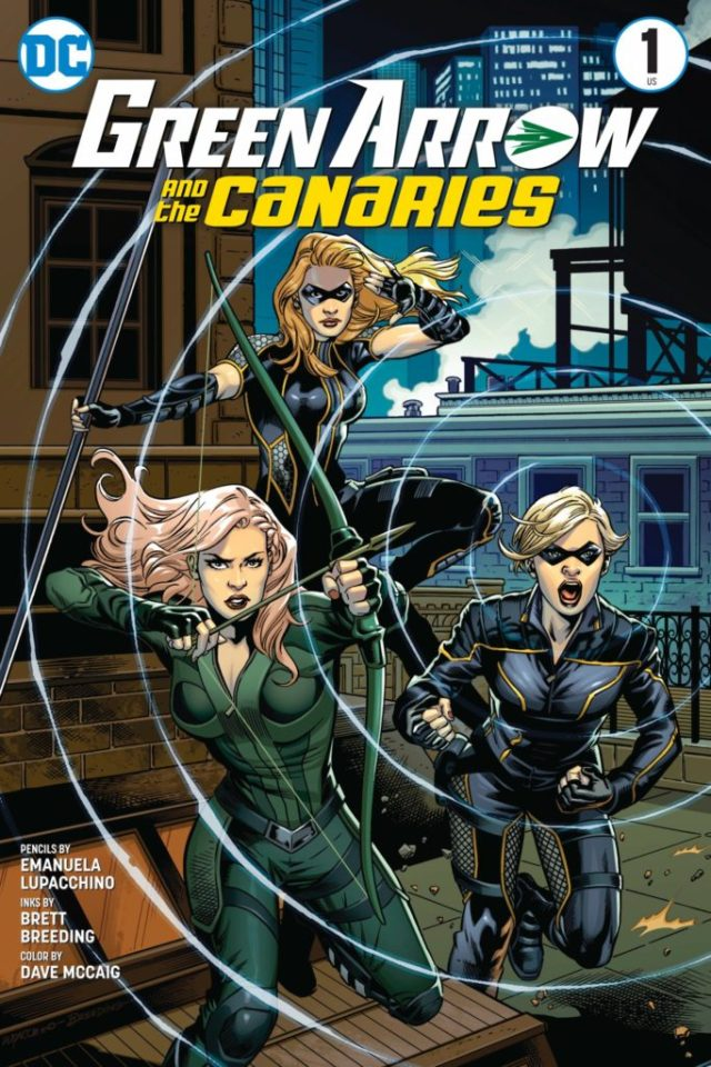 Póster de Green Arrow and the Canaries por Emanuela Lupacchino (lápices), Brett Breeding (tintas) y Dave McCaig (color). Imagen: greenarrowtv.com