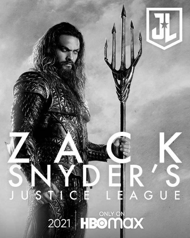 Arthur Curry/Orin/Aquaman (Jason Momoa) en un póster de Zack Snyder's Justice League (2021). Imagen: impawards.com