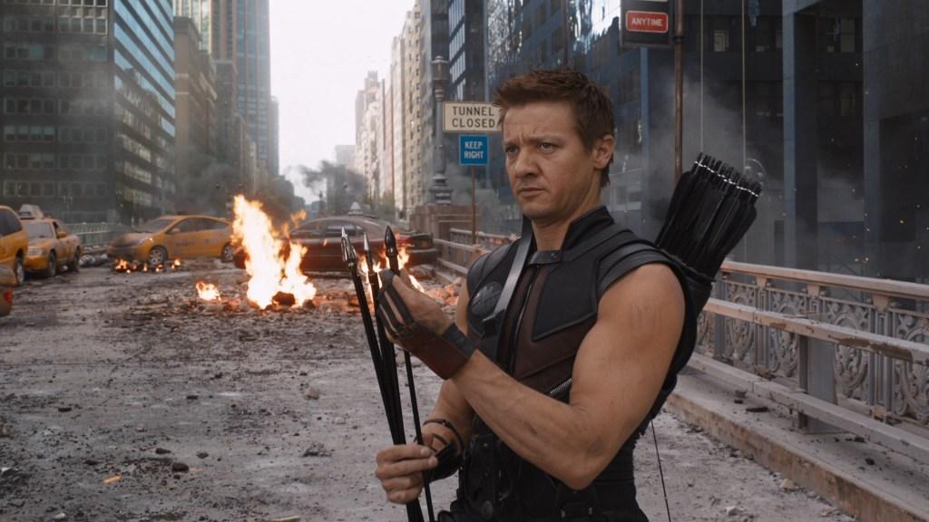 Hawkeye/Clint Barton (Jeremy Renner) en The Avengers (2012). Imagen: fanart.tv