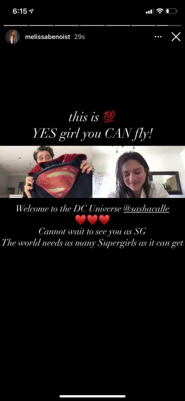 El mensaje de Melissa Benoist para Sasha Calle como Supergirl. Imagen: DC_Cinematic Reddit