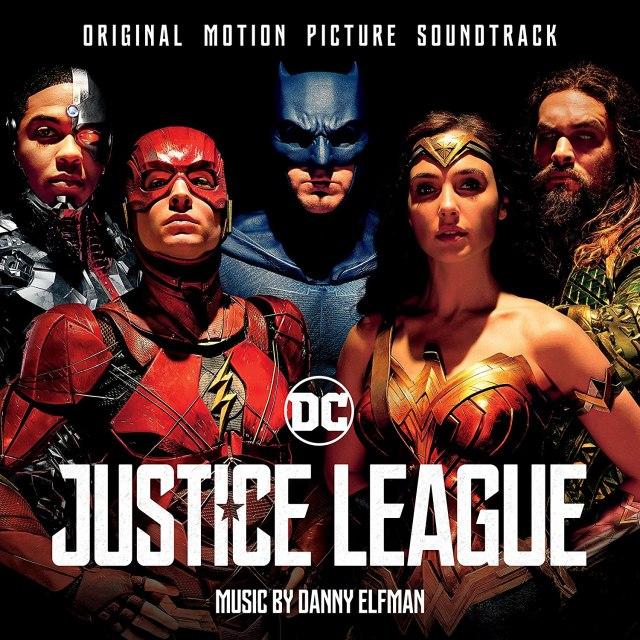 Portada del sountrack de Justice League (2017), compuesto por Danny Elfman. Imagen: Amazon.com