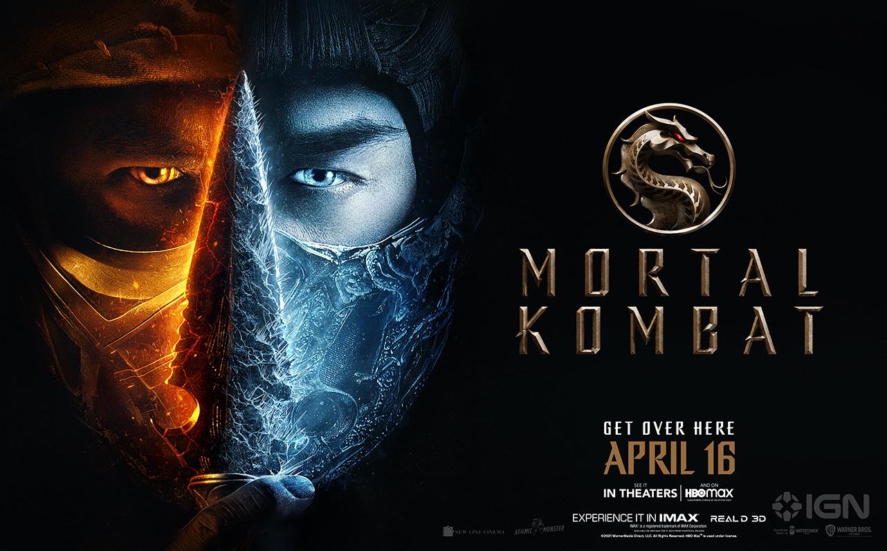 Póster de Mortal Kombat (2021). Imagen: IGN Twitter (@IGN).
