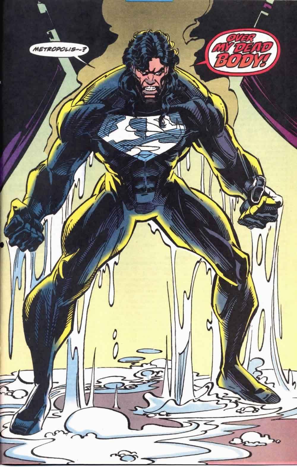 Superman vistiendo la armadura kryptoniana en Superman: The Man of Steel #25 (septiembre de 1993). Arte por Jon Bogdanove. Imagen: Graded Key Comics
