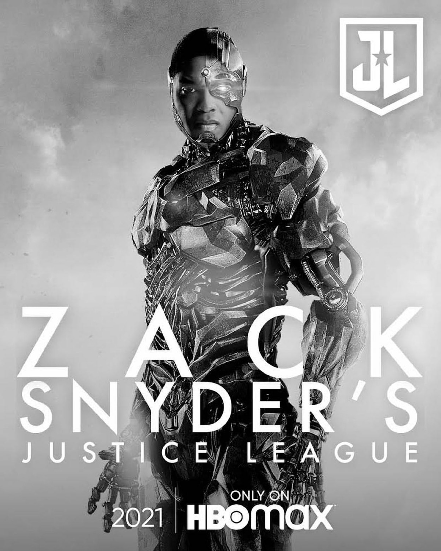 Victor Stone/Cyborg (Ray Fisher) en un póster de Zack Snyder's Justice League (2021). Imagen: impawards.com