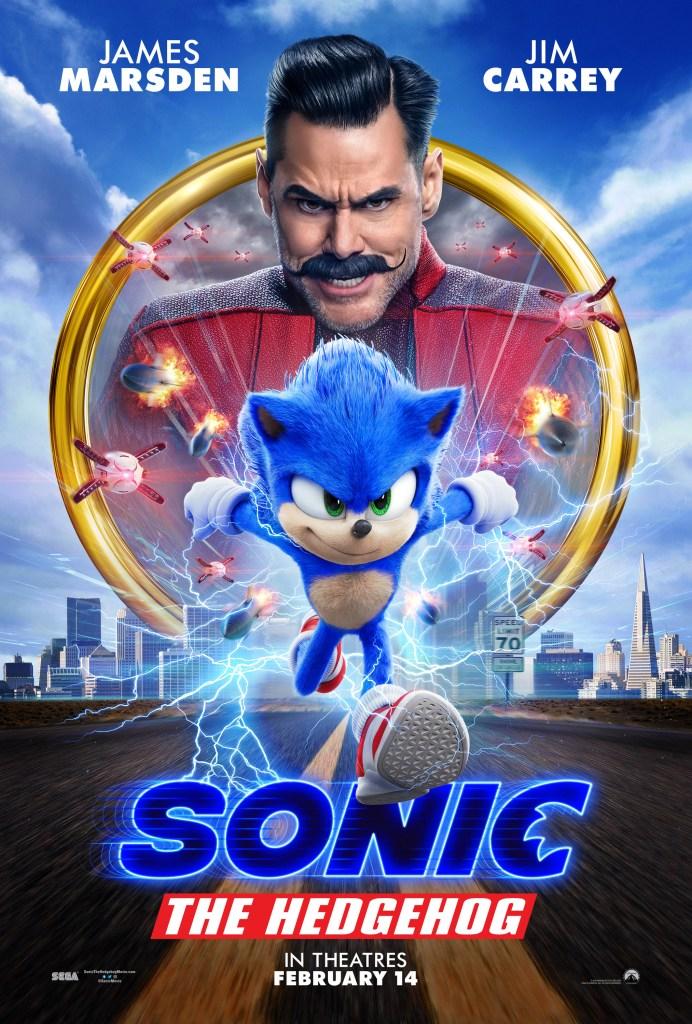 Póster promocional de Sonic the Hedgehog (2020). Imagen: impawards.com