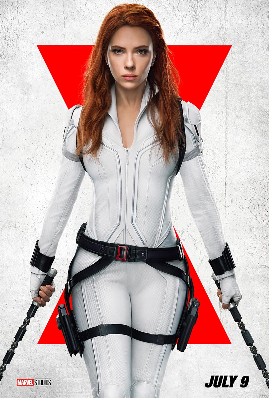 Natasha Romanoff/Black Widow (Scarlett Johansson) en un póster de Black Widow (2021). Imagen: Black Widow Twitter (@theblackwidow).