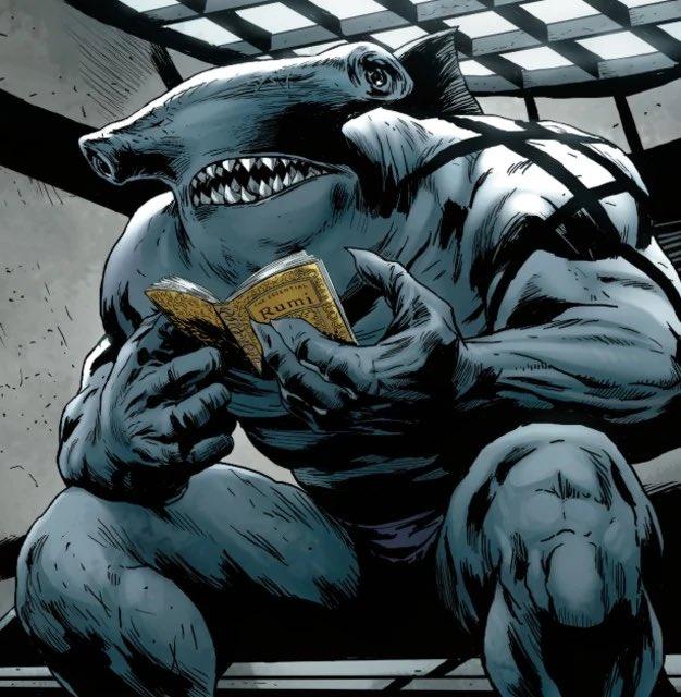 King Shark en la continuidad de The New 52 (2011-2016). Imagen: James Gunn Twitter (@JamesGunn).