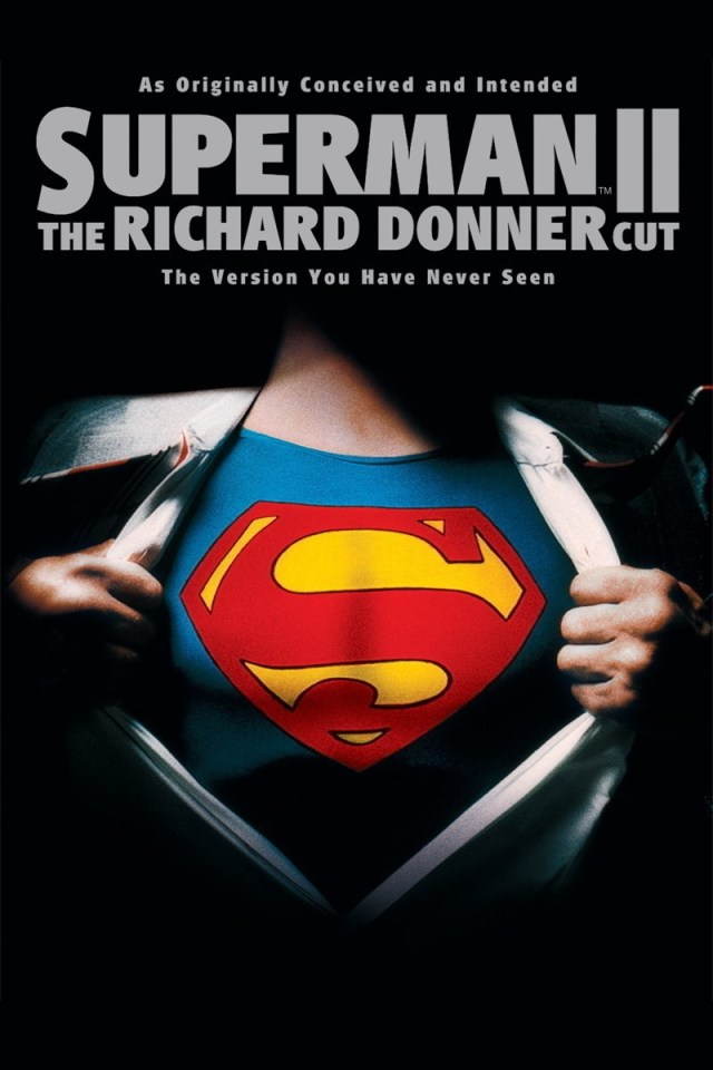 Arte de la edición DVD Región 1 de Superman II: The Richard Donner Cut (2006). Imagen: IMDb.com