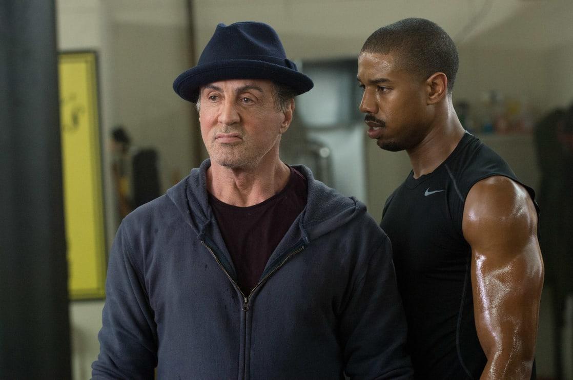Rocky Balboa (Sylvester Stallone) y Adonis Creed (Michael B. Jordan) en Creed (2015). Imagen: listal.com