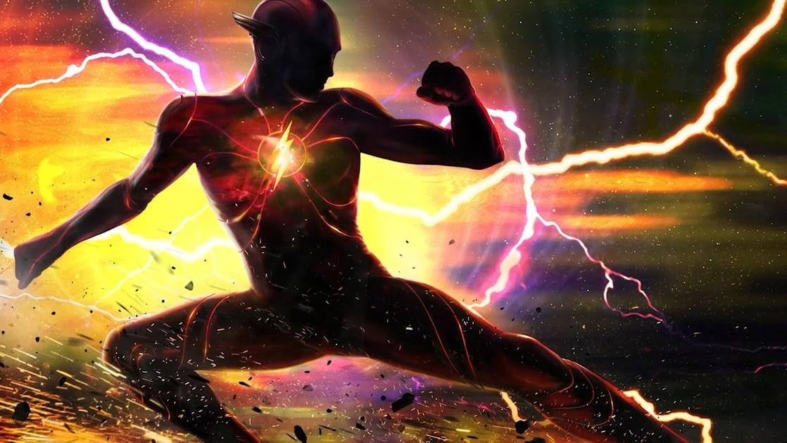 Flash/Barry Allen (Ezra Miller) en arte conceptual de The Flash (2022). Imagen: listal.com