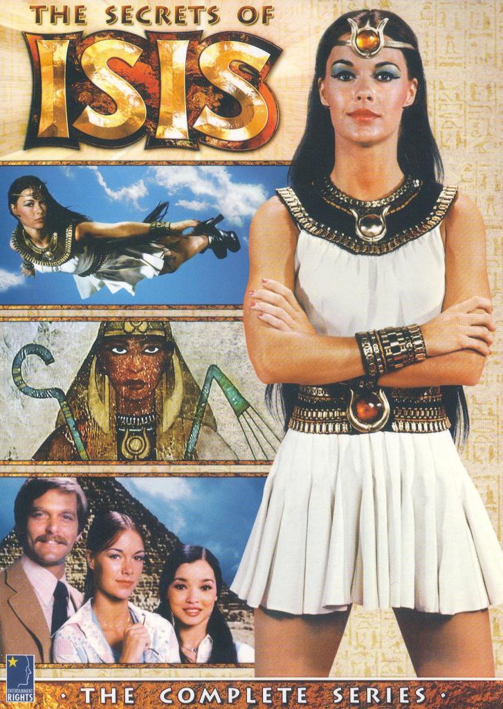 Andrea Thomas/Isis (JoAnna Cameron) en el arte de la edición DVD Región 1 de The Secrets of Isis (1975-1977). Imagen: bestbuy.com