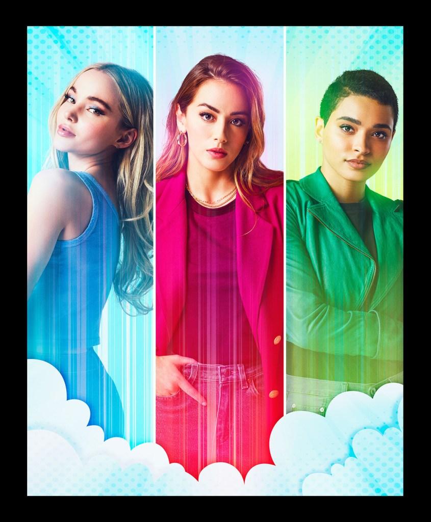 Dove Cameron, Chloe Bennet y Yana Perrault son Bubbles, Blossom y Buttercup en el episodio piloto de The Powerpuff Girls. Imagen: Fandom Twitter (@getFANDOM).