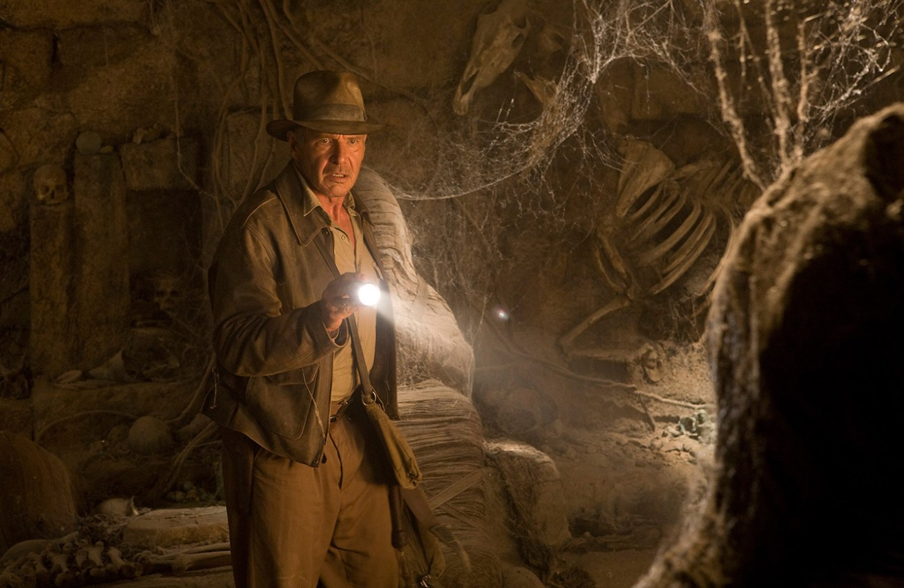 "Harrison Ford como el Dr. Henry Walton ""Indiana"" Jones Jr. en Indiana Jones and the Kingdom of the Crystal Skull (2008). Imagen: lucasfilm.com"
